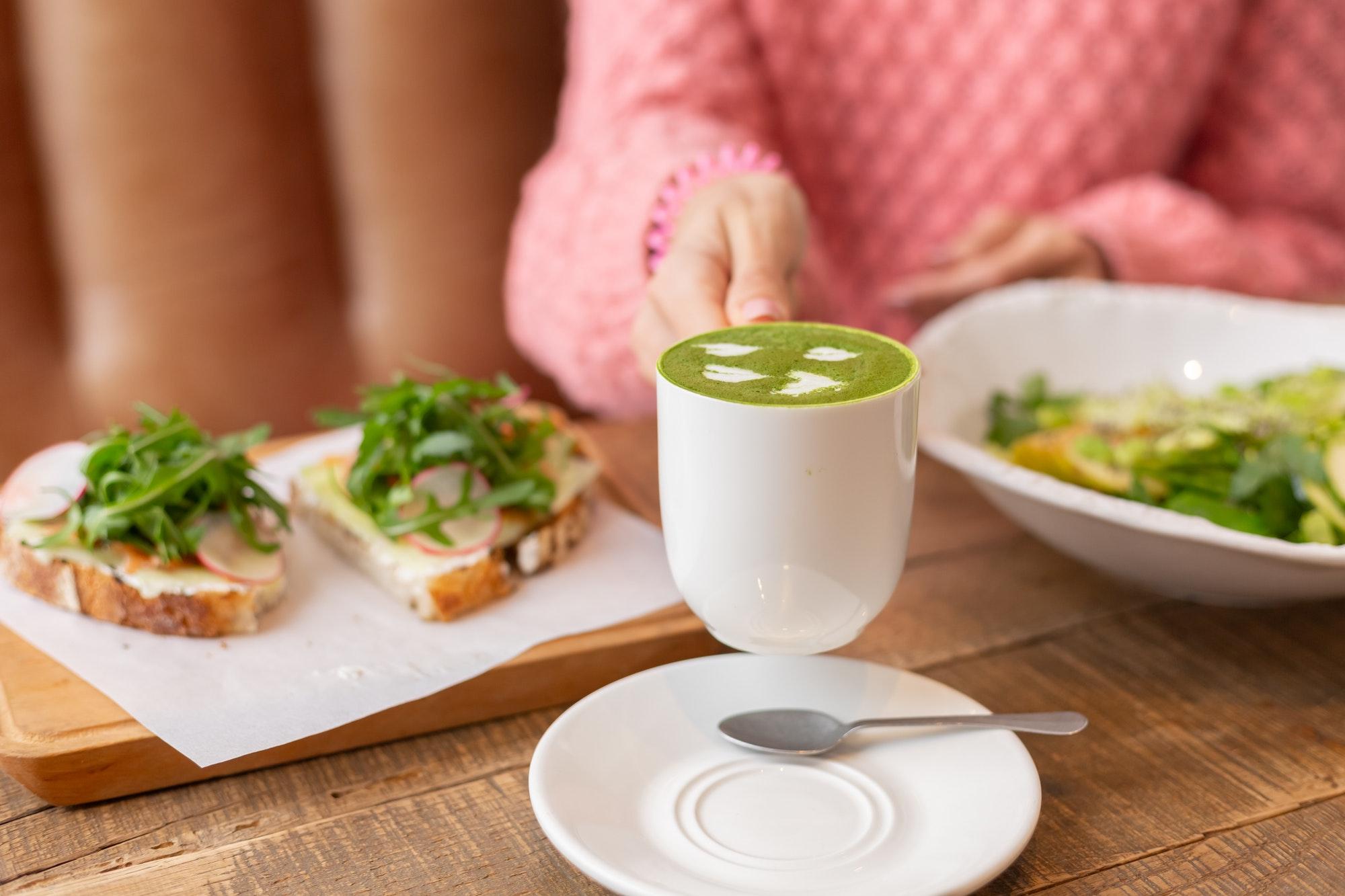 Healthy breakfast in the restaurant
