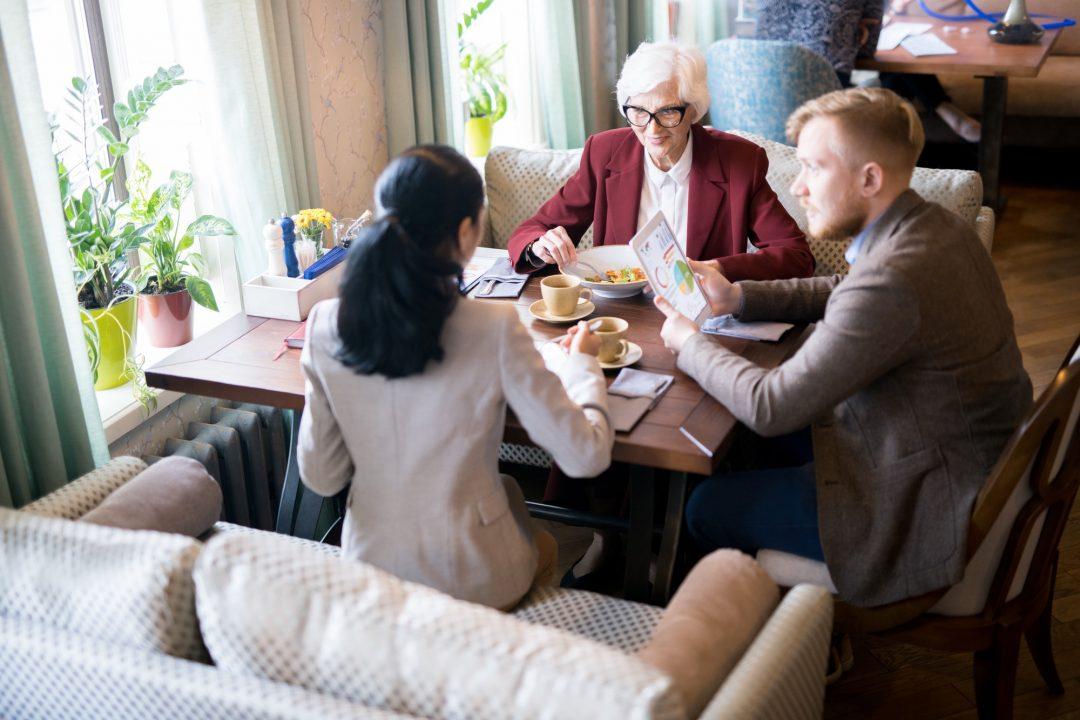 Informal meeting at the restaurant