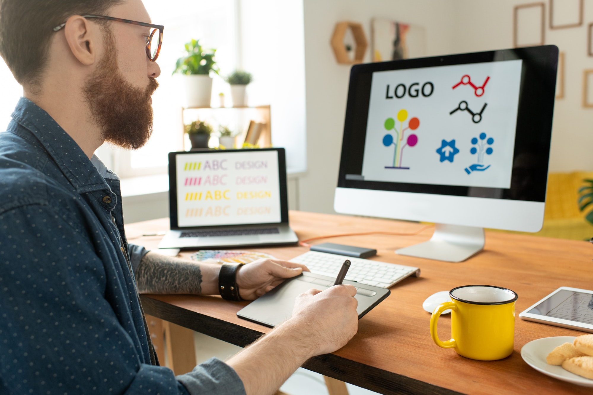 Working on website graphics